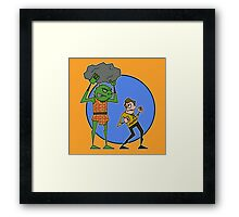 Kirk v Gorn Framed Print