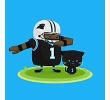 Cam Newton and Panther Photographic Print