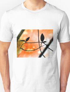 Plant Silhouette Against A Roof Unisex T-Shirt
