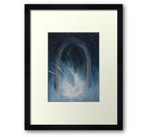 Fallen Angel In The Night Framed Print