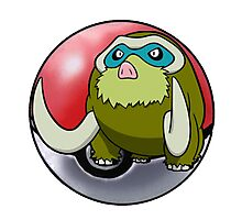 Shiny Mamoswine pokeball - pokemon Photographic Print
