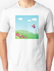 Butterfly Background Unisex T-Shirt