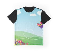 Butterfly Background Graphic T-Shirt