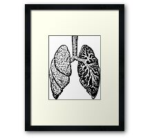 Anatomical Lungs (Human) Framed Print