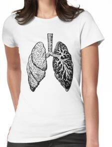 Anatomical Lungs (Human) Womens Fitted T-Shirt