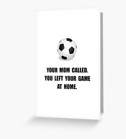 Soccer Game At Home Greeting Card