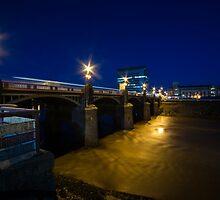 Newport night bridge  by Rob Hawkins
