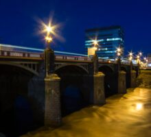 Newport night bridge  Sticker