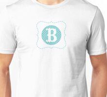 Striped Letter B Unisex T-Shirt