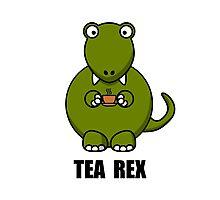 Tea Rex Dinosaur Photographic Print