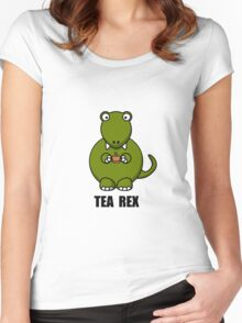 Tea Rex Dinosaur Women's Fitted Scoop T-Shirt