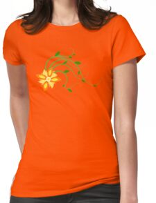 Moving Flower Womens Fitted T-Shirt