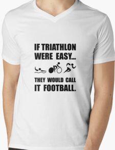 Triathlon Football Mens V-Neck T-Shirt