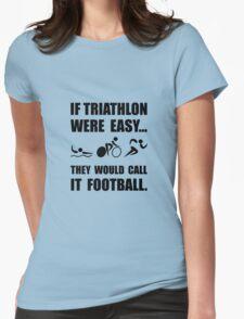 Triathlon Football Womens Fitted T-Shirt