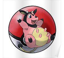 Miltank pokeball - pokemon Poster