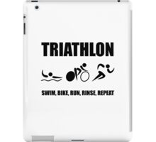 Triathlon Rinse Repeat iPad Case/Skin