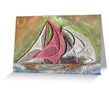 Ships Ahoy Aurora Borealis  Greeting Card