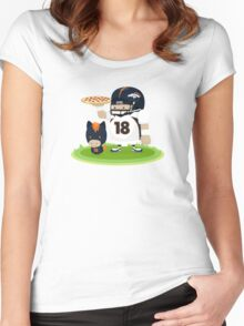 Peyton Manning and Bronco Women's Fitted Scoop T-Shirt