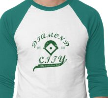 Diamond City - Green Men's Baseball ¾ T-Shirt