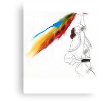 Eighties Look Fashion Illustration by Anne Zielinski-Old Canvas Print