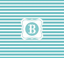 Striped Letter B by MonogramMonkey