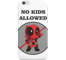 No Kids Allowed Pool iPhone Case/Skin