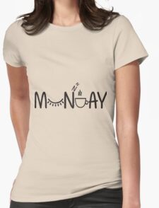 Lazy Monday  Womens Fitted T-Shirt