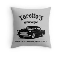 Toretto's Garage. Fast and Furious / Gas Monkey - inspired Throw Pillow