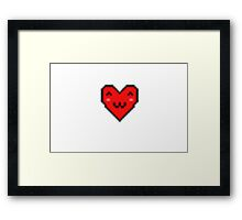 pixel cat heart Framed Print