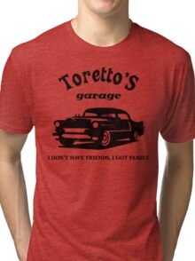 Toretto's Garage. Fast and Furious / Gas Monkey - inspired Tri-blend T-Shirt