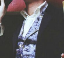 mark gatiss and his tophat Sticker