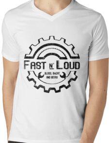 Fast and Loud, Inspired Gas Monkey. Black design. Mens V-Neck T-Shirt