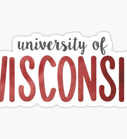 University of Wisconsin Sticker