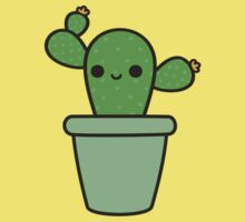 Cute cactus in green pot One Piece - Short Sleeve