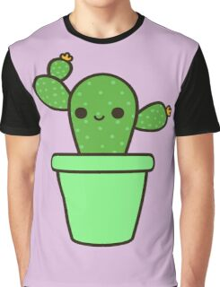 Cute cactus in green pot Graphic T-Shirt
