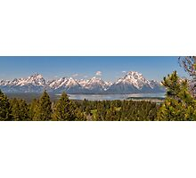 Grand Tetons Over Jackson Lake Photographic Print