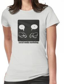 Social media marketing Womens Fitted T-Shirt