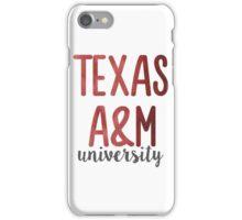 Texas A&M University iPhone Case/Skin