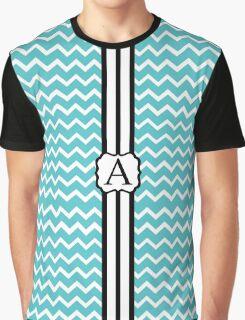 A Turquois Chevron II Graphic T-Shirt