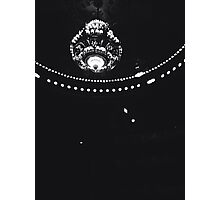 Black and White Chandelier Silhouette   Photographic Print