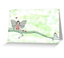 Ladybug Fairy Greeting Card