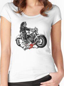 bikers  Women's Fitted Scoop T-Shirt