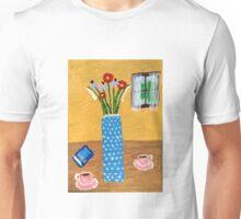 Espresso And Summer Flowers Unisex T-Shirt