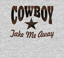 western country cowgirl typography cowboy take me away Womens Fitted T-Shirt