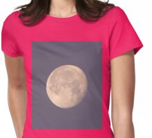 Mystical Daytime Moon Womens Fitted T-Shirt