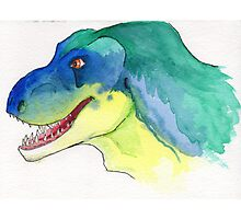 Happy Tyrannosaurus Rex Photographic Print