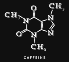 White Coffee Molecule Graphic Kids Tee
