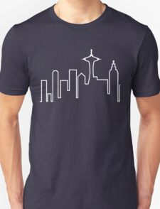 Frasier skyline t-shirt – Seattle, Seahawks, Frasier Crane T-Shirt