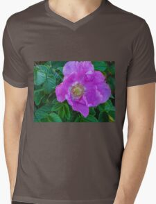 Maine Rose Mens V-Neck T-Shirt