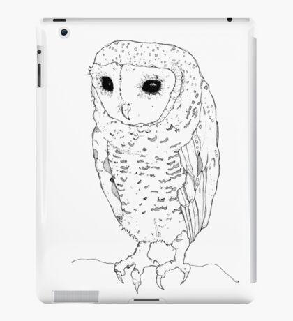 Little Owl - black ink iPad Case/Skin